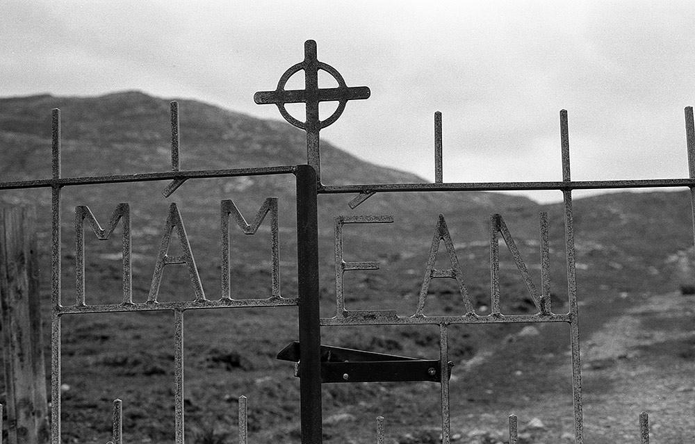 Mamean Gate, Connemara, Galway, Ireland (black and white)