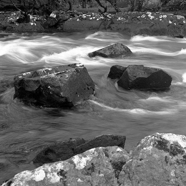 Bundoragha River, black and white photography, Donal Kelly