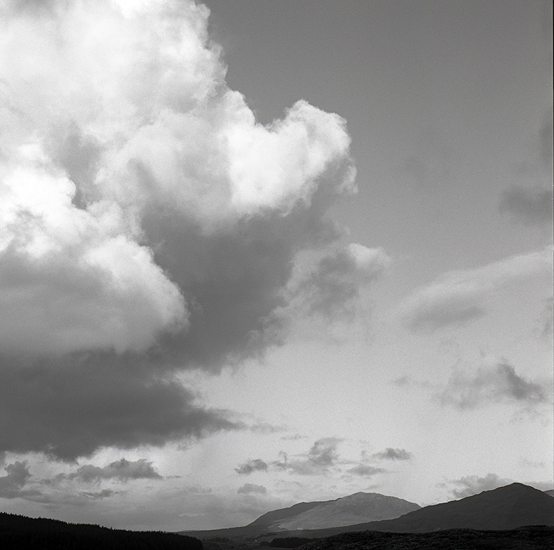 Clouds over Connemara, black and white photography, Donal Kelly