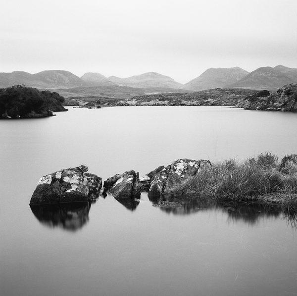 Roundstone Bog Twelve Bens, black and white photography, Donal Kelly